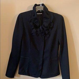 TAHARI Ruffle Collard Jacket